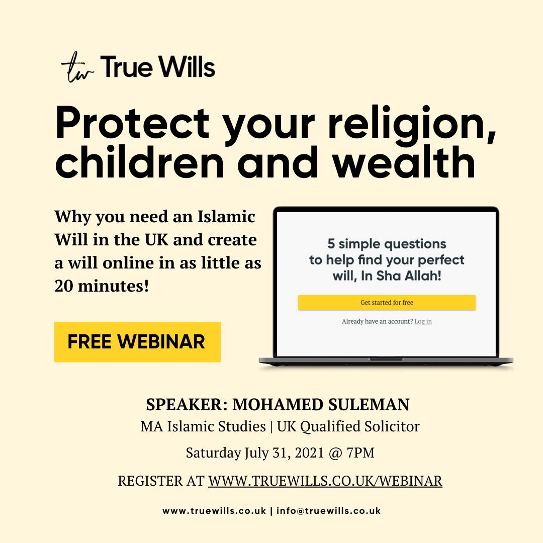True Wills Webinar poster July 31 2021